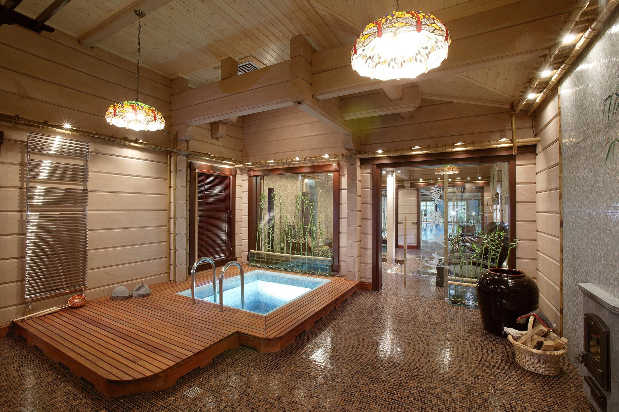 двухэтажный дом в японском стиле из бруса HONKA