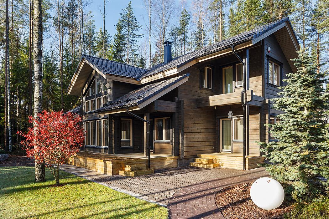 Финский дом из клееного бруса от компании HONKA