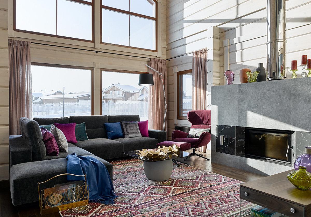 интерьер финского дома Хонка Серента