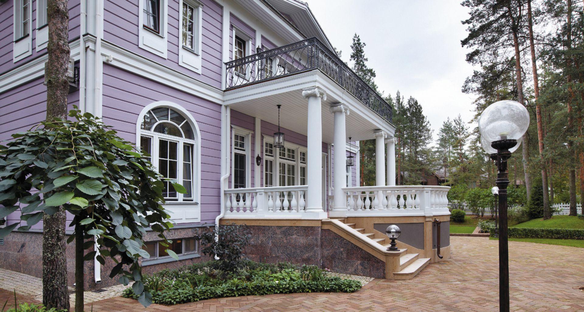 Строительство элитного особняка Elegia из финского клееного бруса