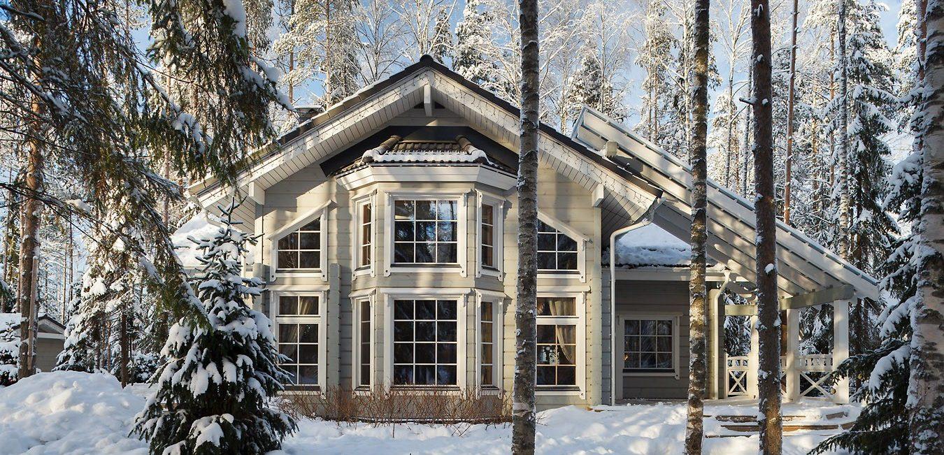Красивые деревянные дома из клееного бруса. Коттедж Ajatonta