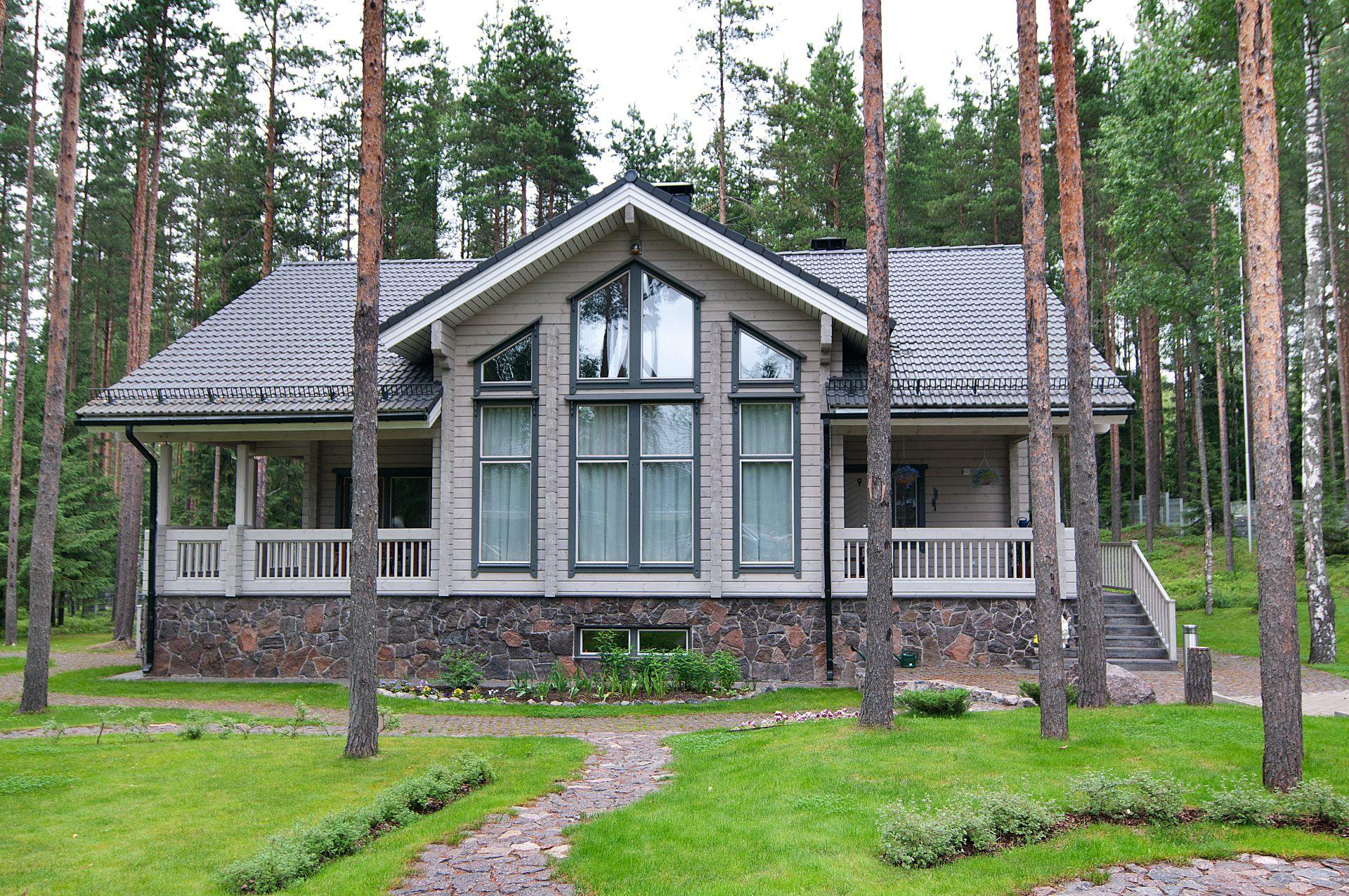 Элитный проект дома Metsuri из клееного бруса финской компании