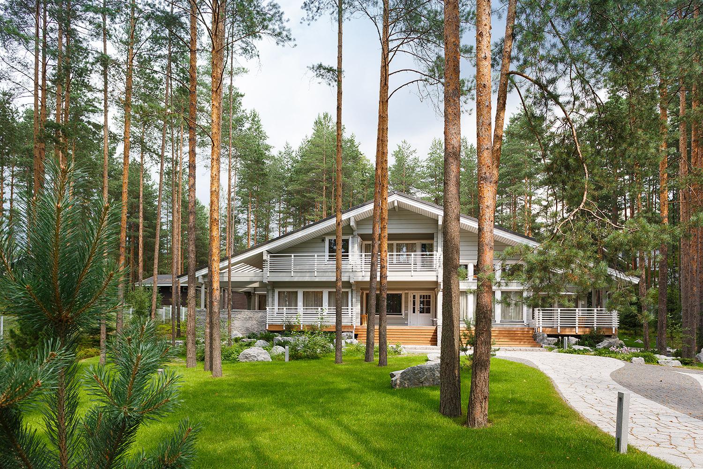 Элитный деревянный дом из клееного бруса финского производства