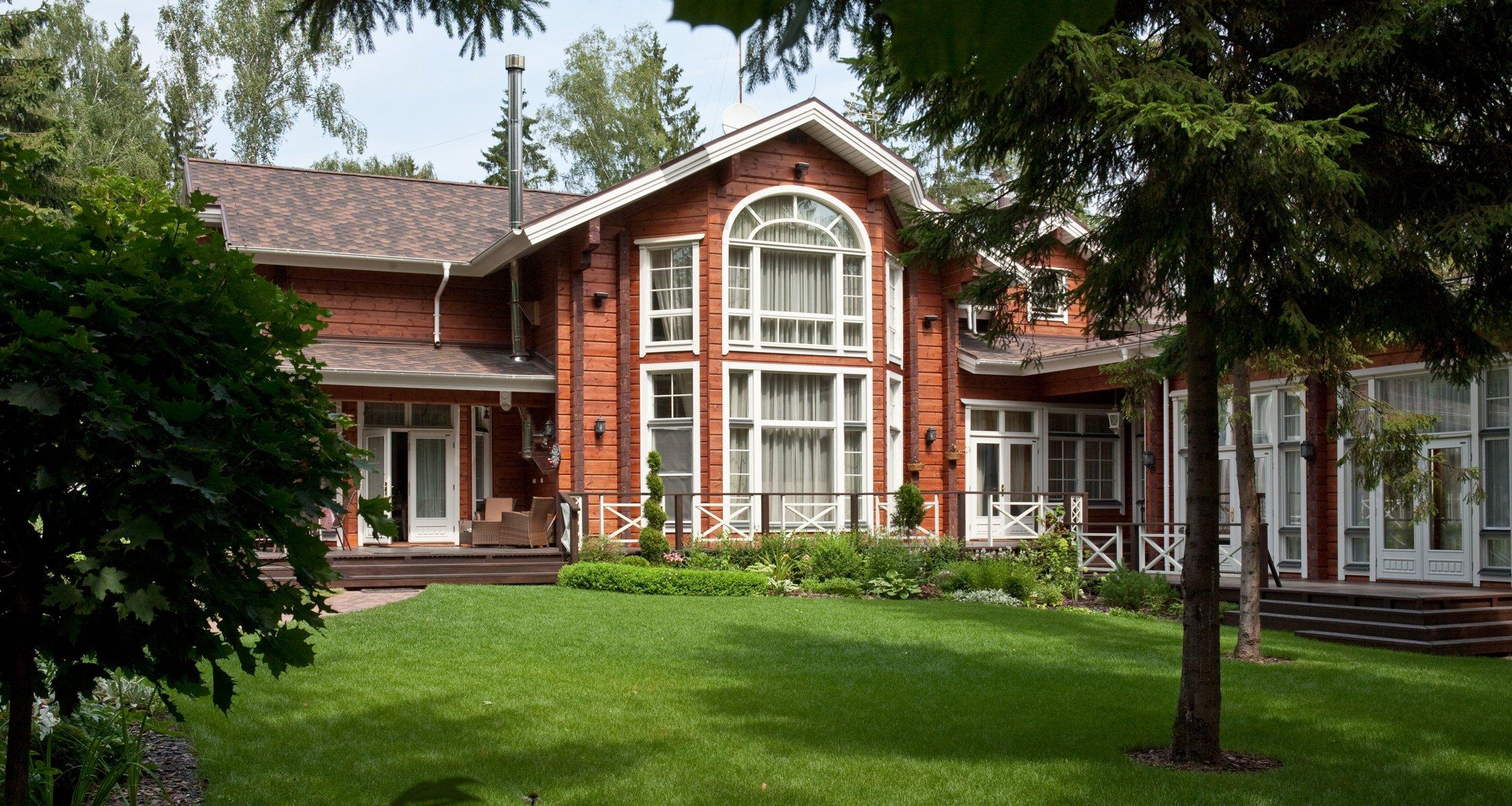 Строительство люкс дома шале Laine из финского клееного бруса