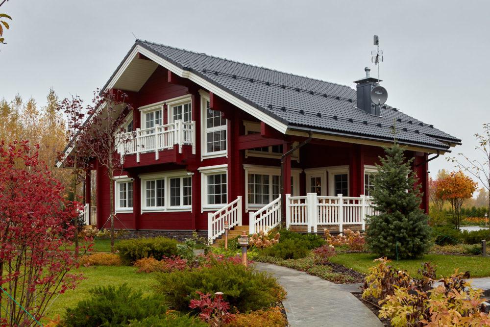 Simfonia Honka проект красного дома, дом в красном цвете, красные деревянные дома