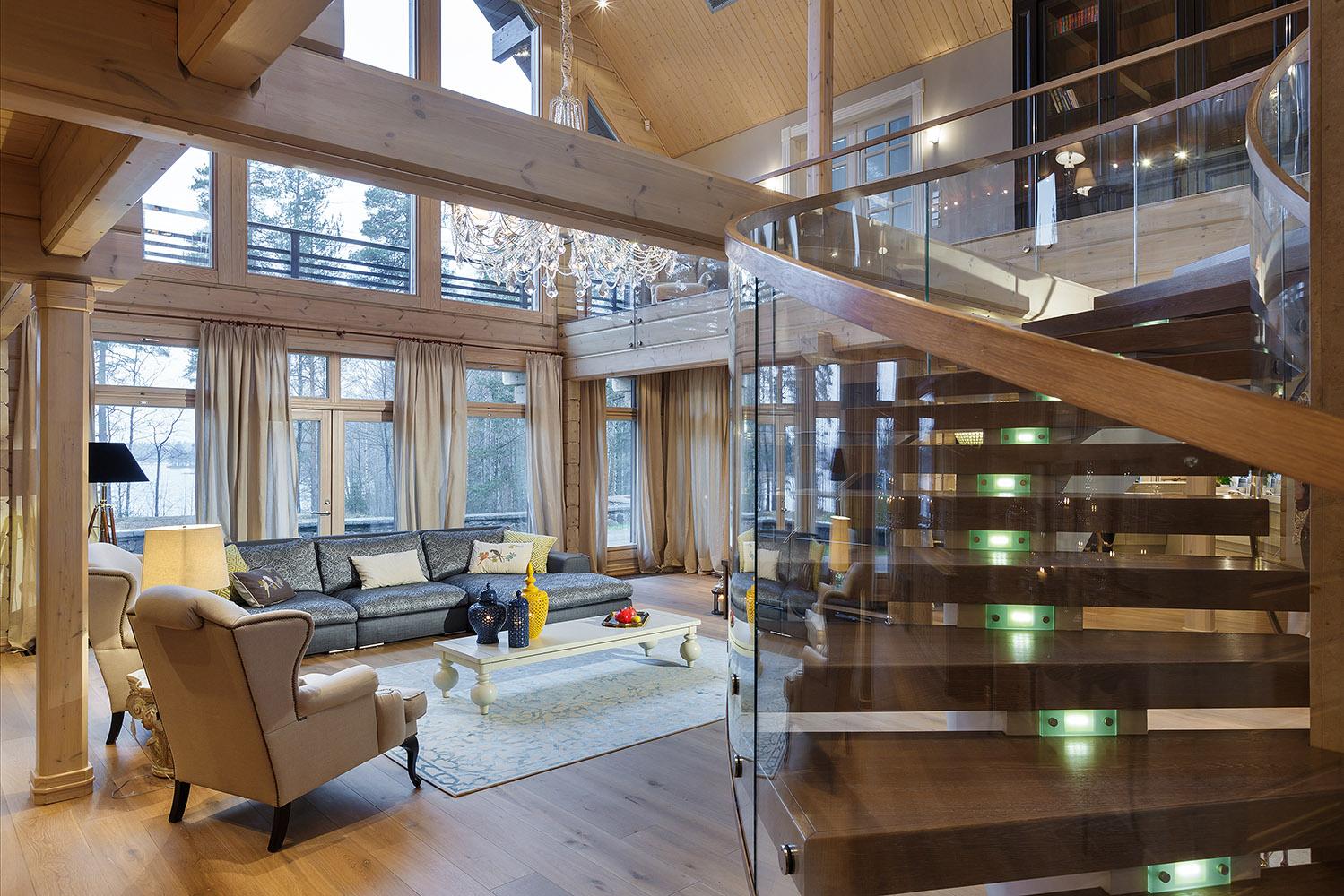 красивый дом из бруса HONKA Maestro