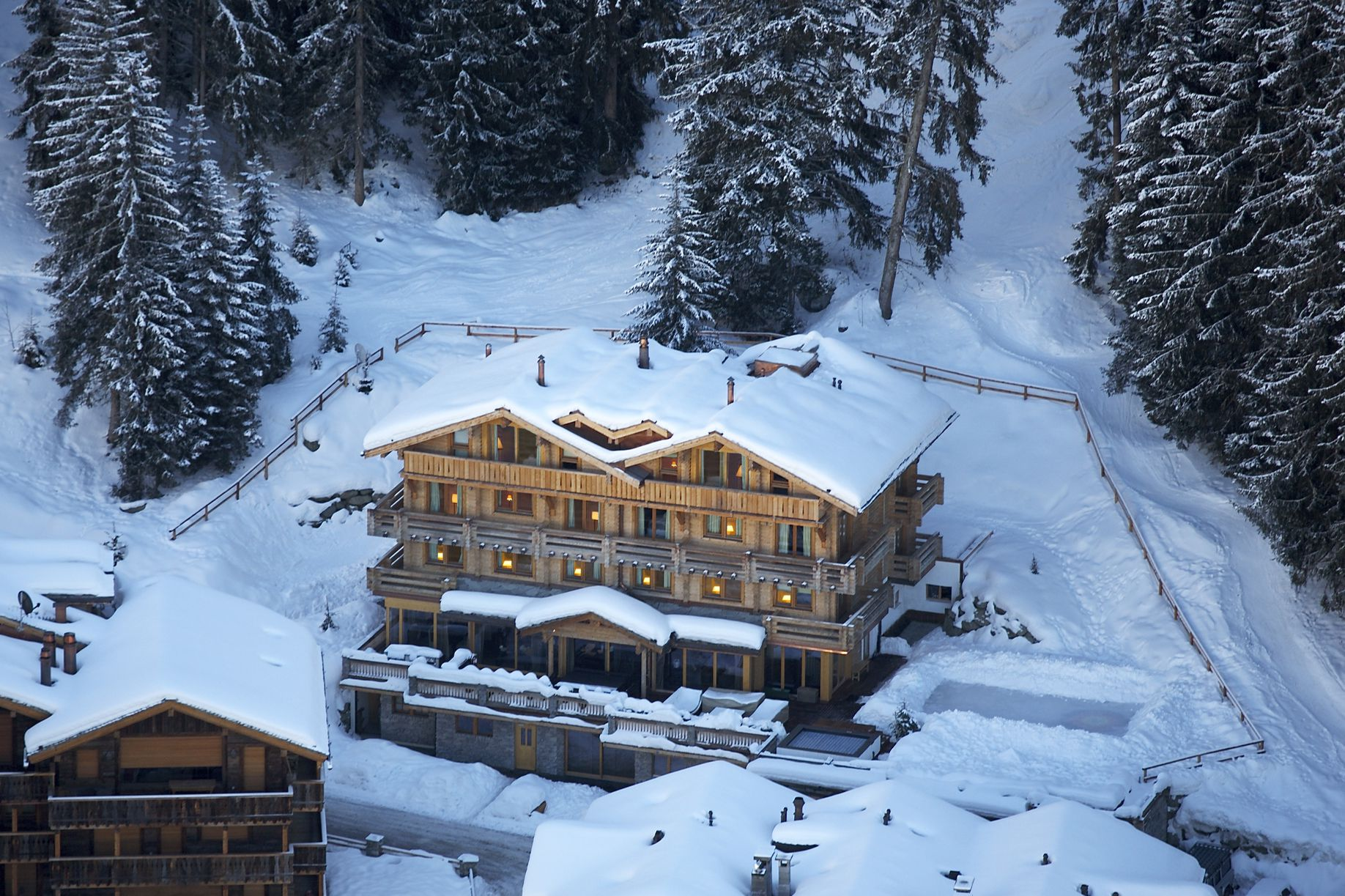 Альпийский курорт The Lodge Verbier Switzerland от HONKA
