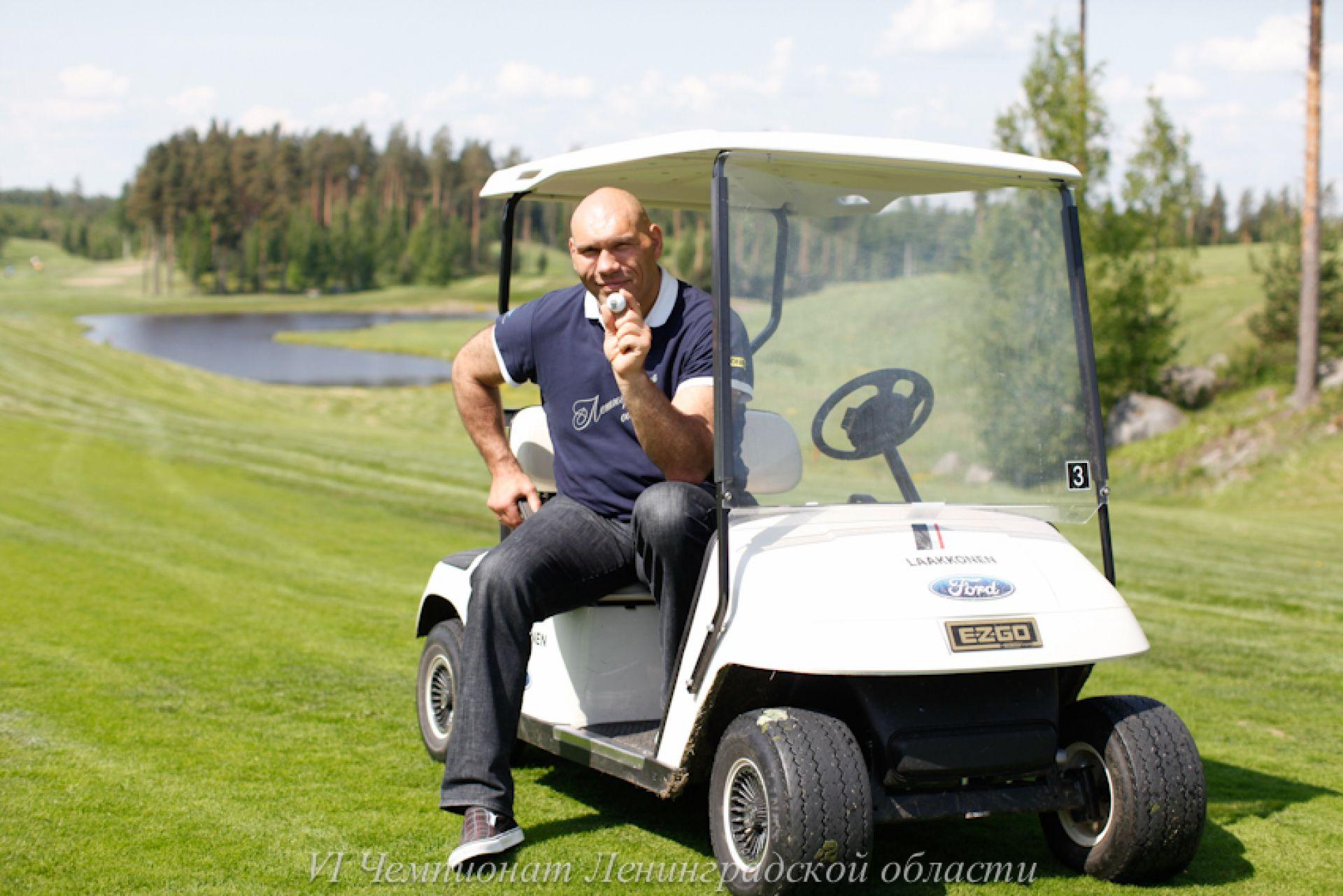 На гольф-поле с Валуевым