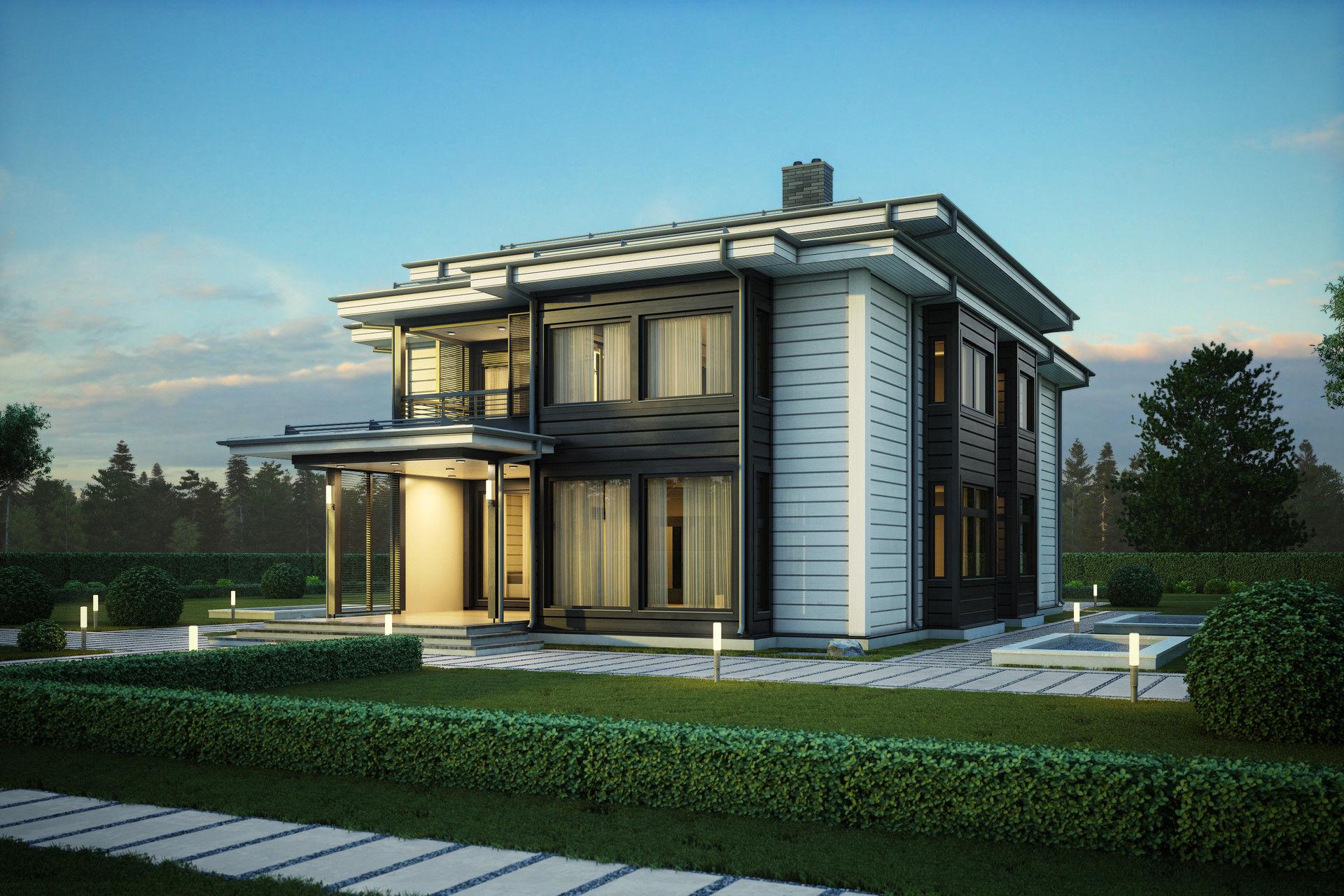 Двухэтажный новый дом Dream премиум-класса для загородной жизни