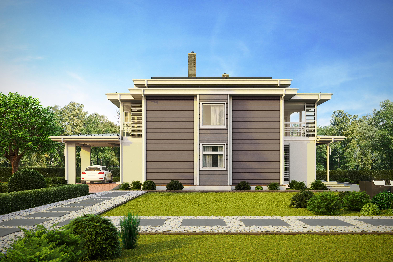 Современный деревянный дом Linssi от финской компании HONKA
