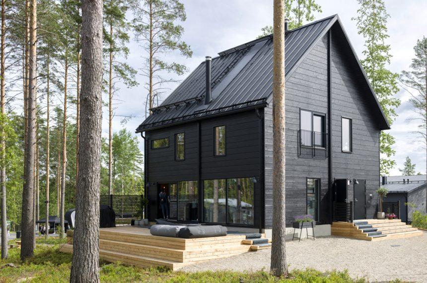 Современный скандинавский деревянный дом