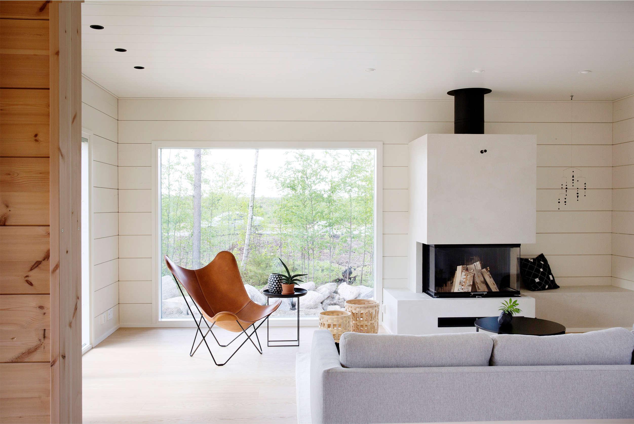 овременный двухэтажный деревянный дом