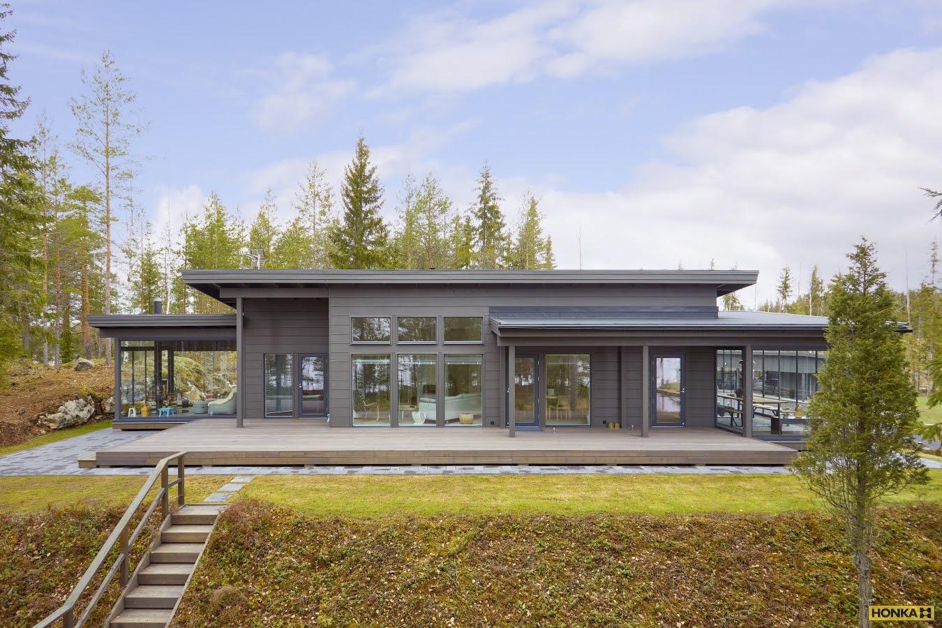 дом с верандой Honka Saimaa