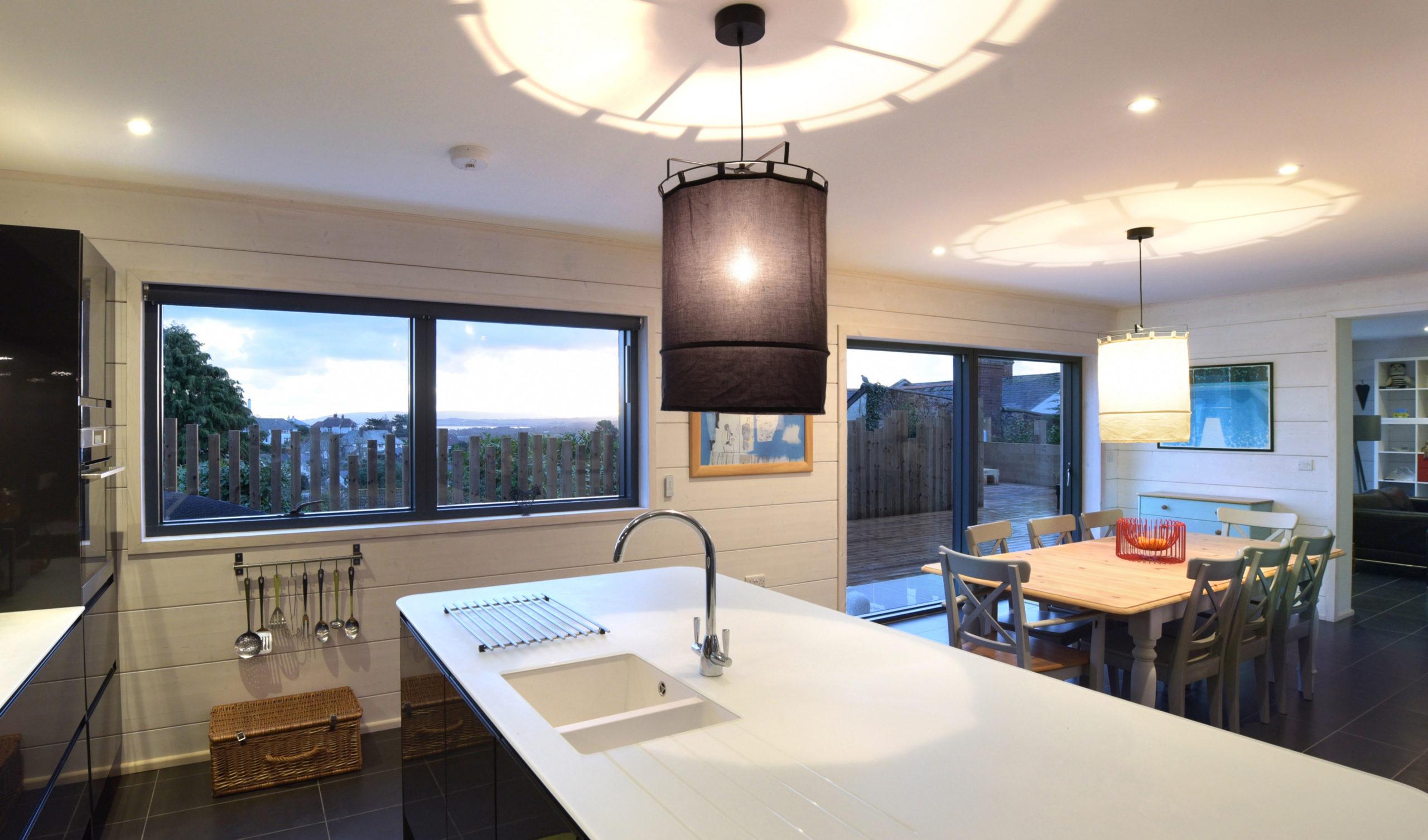 ультрасовременный проект дома из клееного бруса с кухней