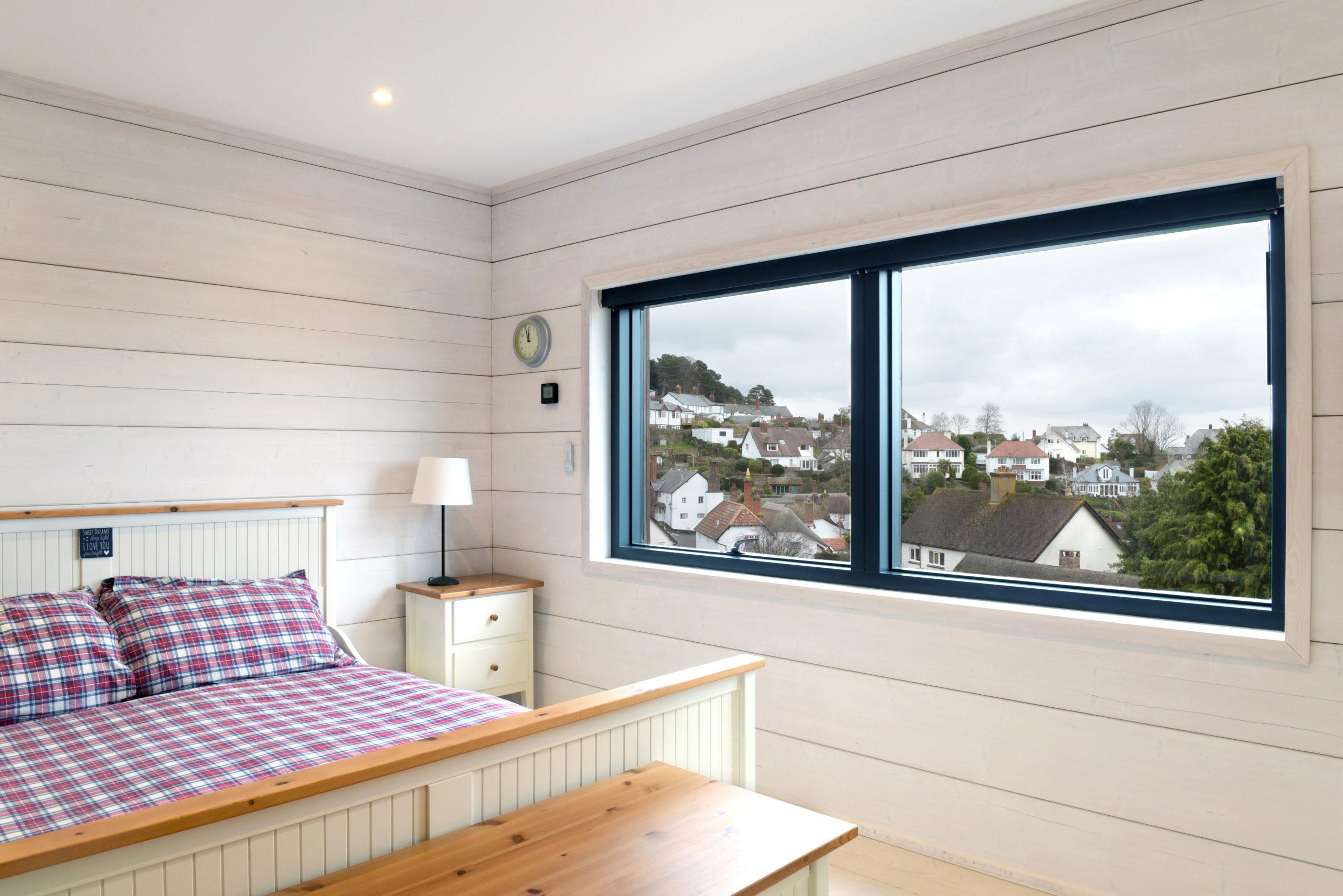 ультрасовременный проект дома с видовой спальней из клееного бруса