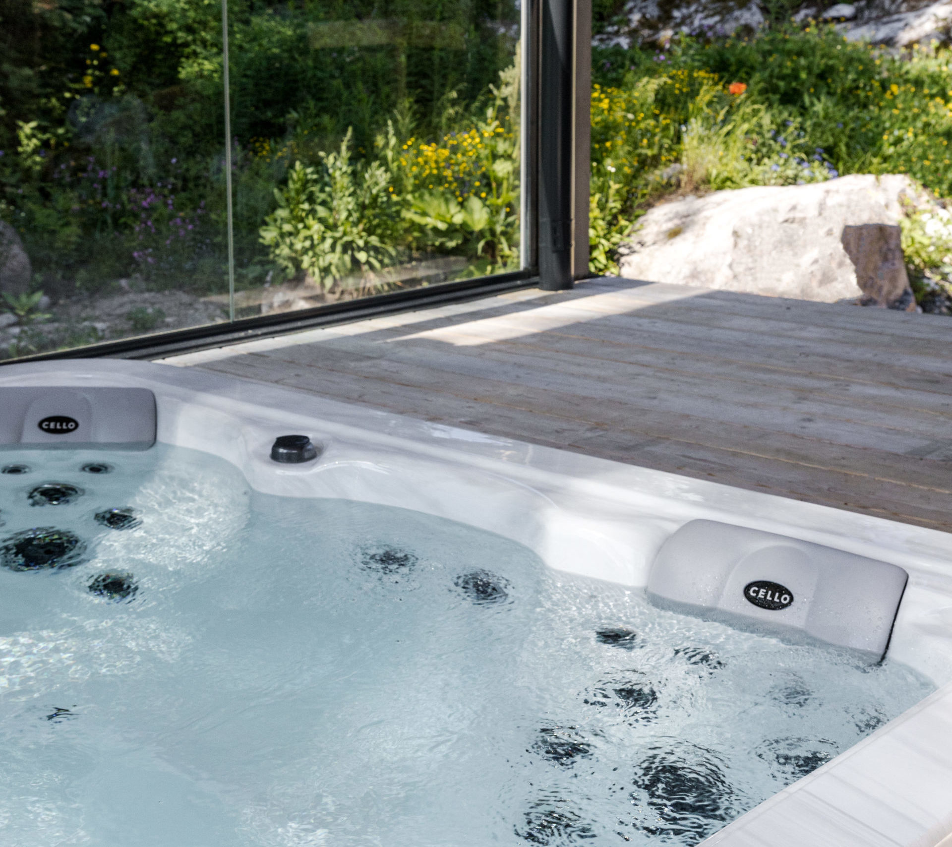 ванна в доме в скандинавском стиле